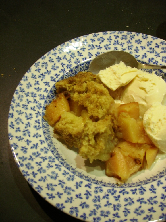 Apple, Quince and Cardamom Crumble