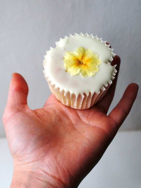 Nettle and Primula Cupcake