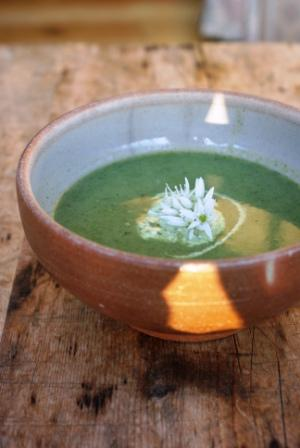 Nettle Soup with Wild Garlic Cream